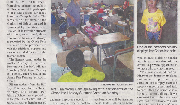 Literacy Summer Camp In St. Thomas