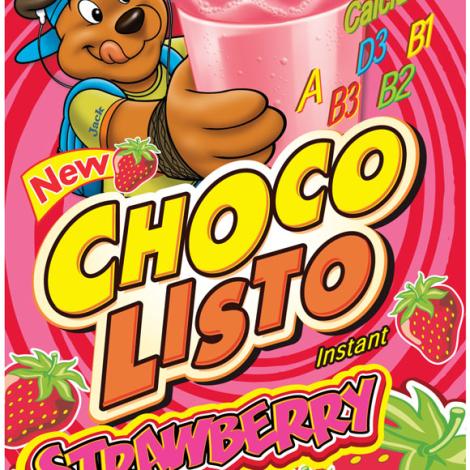 Chocolisto Strawberry Drink Mix 200g